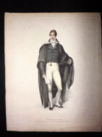 Ackermann History of Oxford 1814 Hand Col Print. Bachelor of Arts